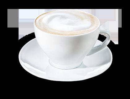 Café au lait  Kaffee mit heißer Milch
