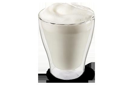 Heiße Milch  frische Milch auf Knopfdruck