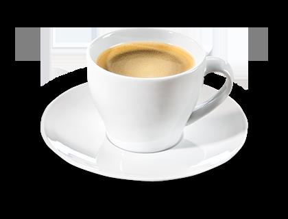 Kaffee schwarz  frisch gebrüht aus ganzen Bohnen