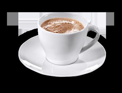 Schokokaffee  frischer Kaffee mit einem Schuss Kakao